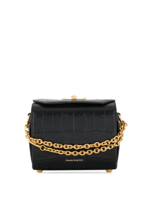 Alexander Mcqueen Box 19 Handbag In Black