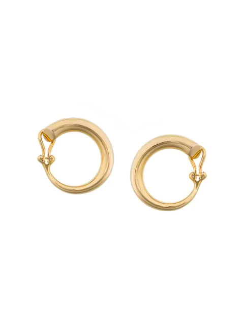 3369175c3 Charlotte Chesnais Monie Large Gold-Plated Clip-On Earrings In ...