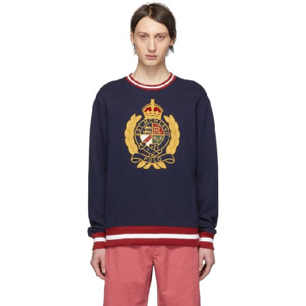 2d438c1e Men's Big & Tall Fleece Graphic Sweatshirt in Cruise Navy