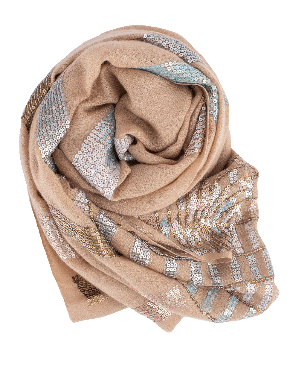 K. Janavi A Starry Night Scarf In Icy-morn