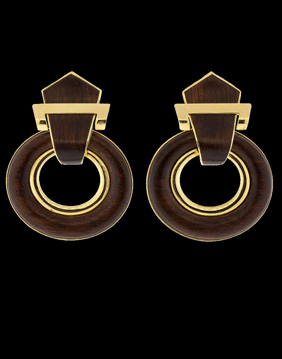 David Webb Bloodwood Doorknocker Earrings In Ylwgold