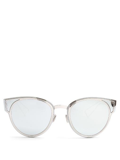 2382f2b188b Dior Sculpt Cat-Eye Sunglasses In Silver