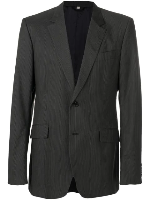 Burberry 1990's Single-breasted Blazer Jacket In Grey