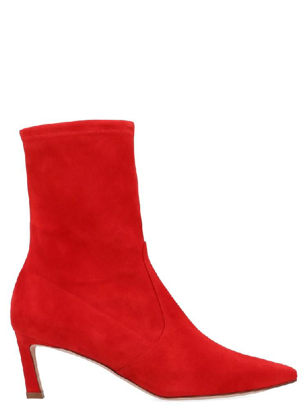 Stuart Weitzman Rapture 55 Boots In Red
