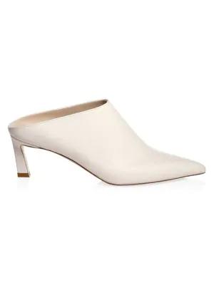 Stuart Weitzman Women's Mira Leather Mules In Cream