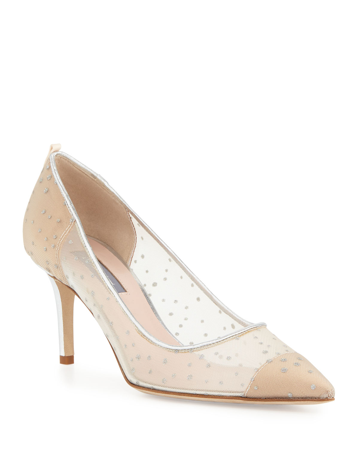 09c3e09ca34 Sjp By Sarah Jessica Parker Glass 70Mm Mesh Pumps In Silver
