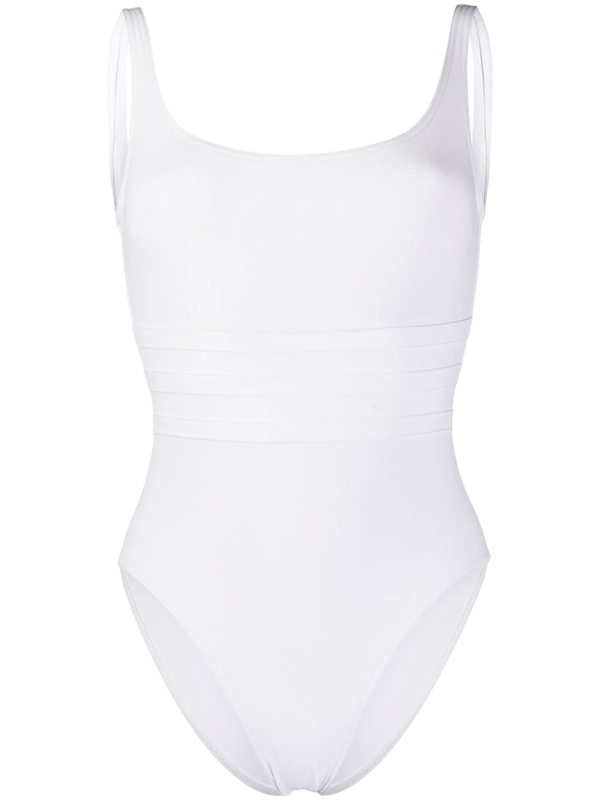 Eres Asia Panelled-front Swimsuit In White