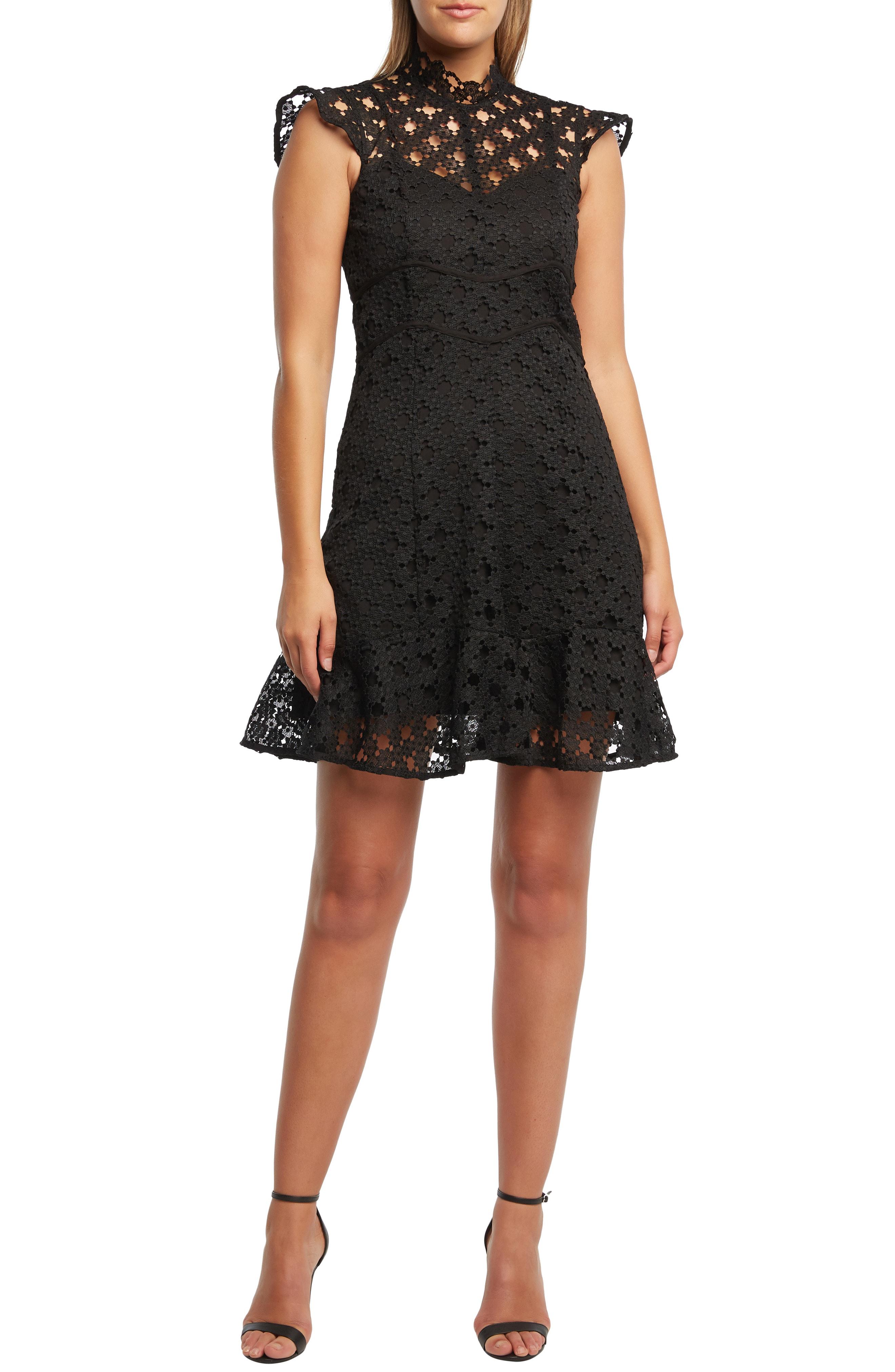Mila Lace Sheath Dress In Black