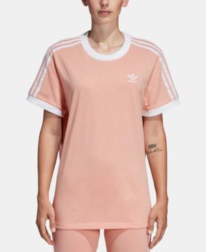 d76c7f69aade01 Adidas Originals 3-Stripes Tee In Dust Pink | ModeSens