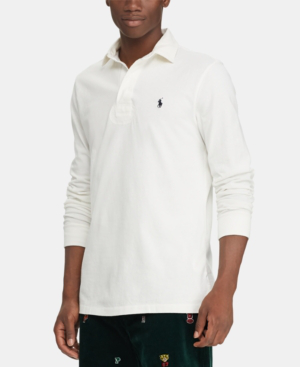 49b19c08 Polo Ralph Lauren Men's The Iconic Rugby Classic Fit Shirt In Deckwash White