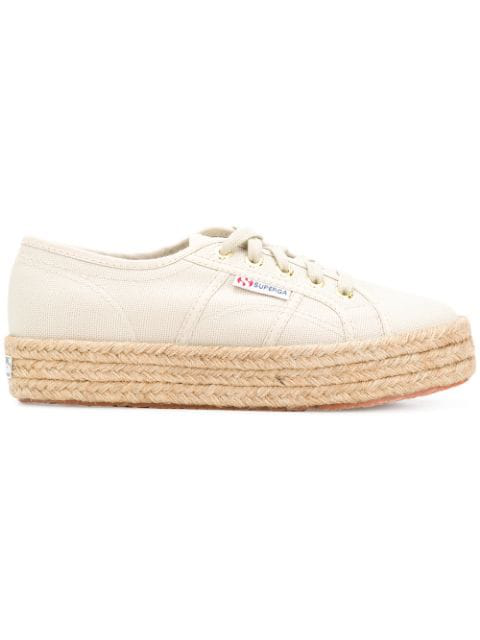 Superga Low Top Platform Sneakers In Neutrals