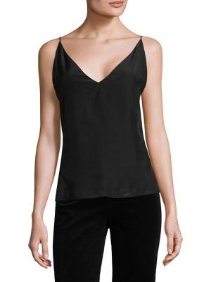 J Brand Lucy Silk Camisole In Black
