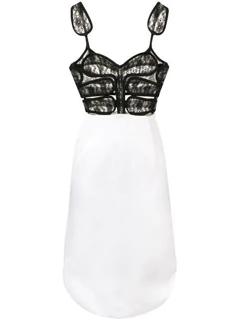 Christopher Kane Lace Crotch Corset Dress White