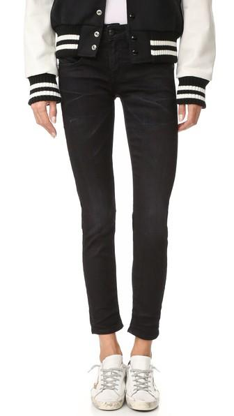 31767ac4cd93af R13 The Jenny Mid Rise Skinny Jeans In Black | ModeSens