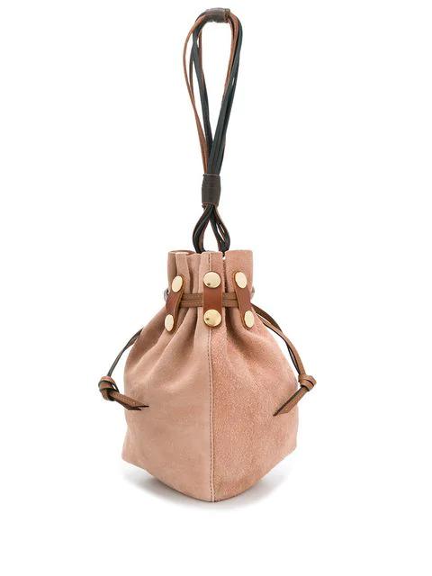 Marni Bindle Bucket Bag In Brown