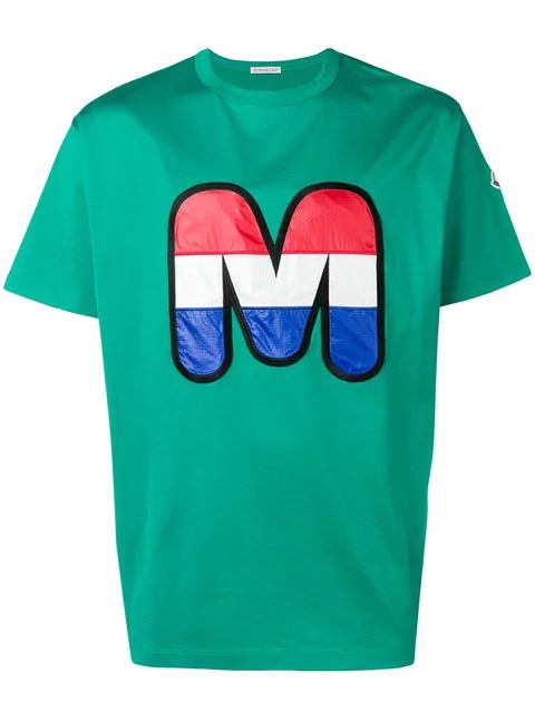 Moncler M Print T-shirt In Green