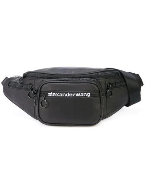 b9bdd56ff Alexander Wang Mini Attica Leather Chain Convertible Belt Bag In Black