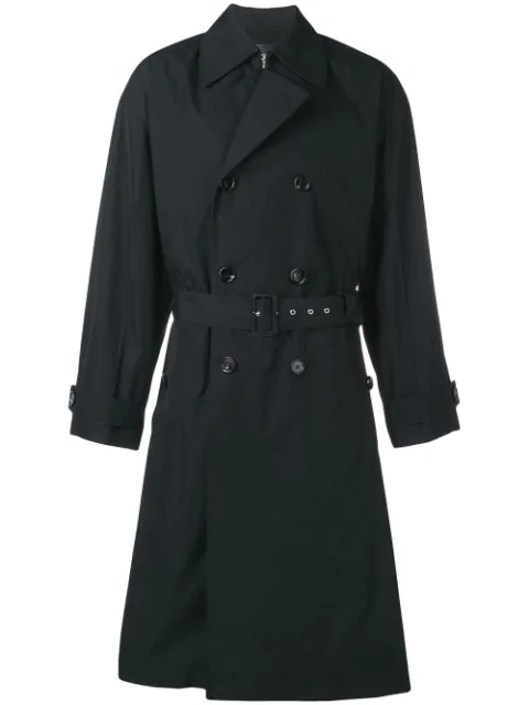 Bottega Veneta Waterproof Trench Coat In Black