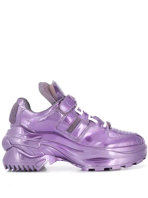 Maison Margiela Oversize Leather Sneakers In T4296 Purple