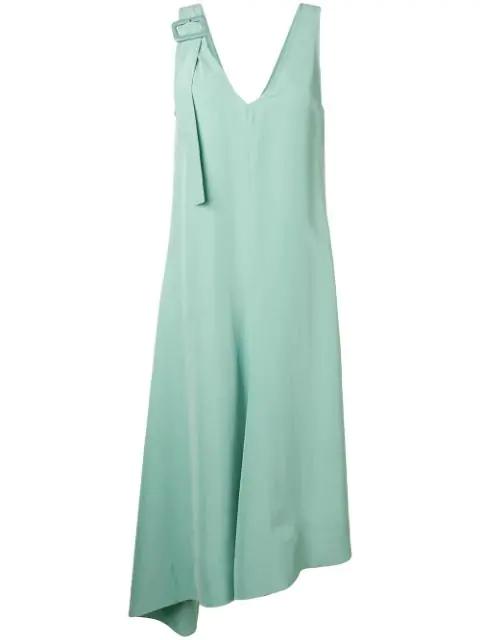 Joseph Sleeveless Midi Dress In Green