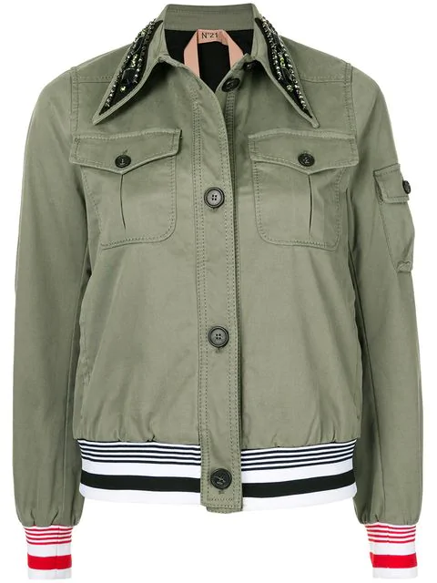 N°21 Cropped Military In Green