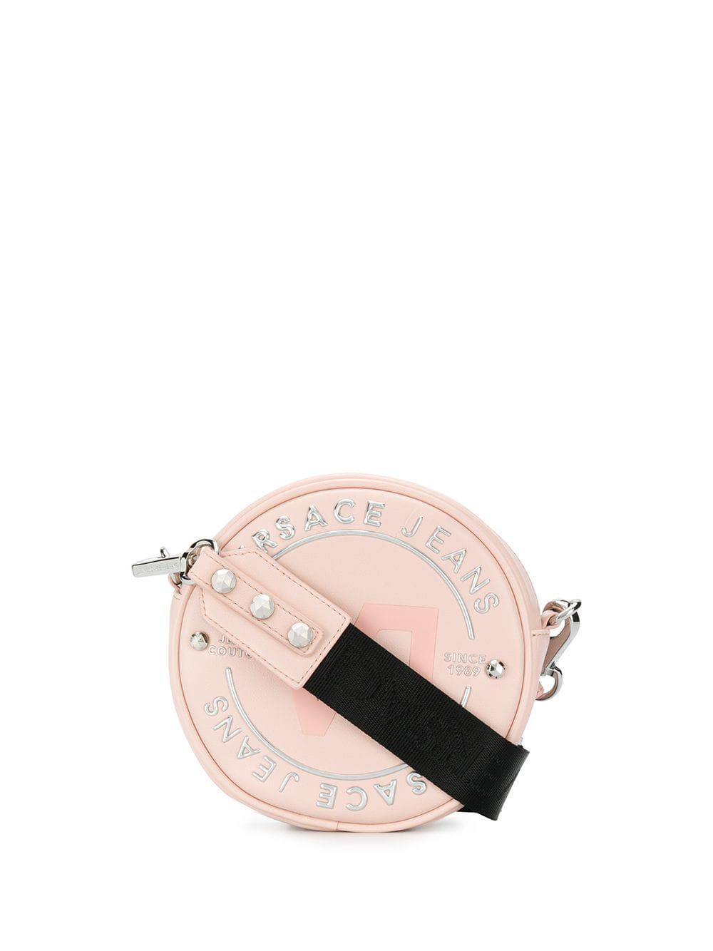 81fe586f2 Versace Jeans Round Logo Crossbody Bag - Pink | ModeSens