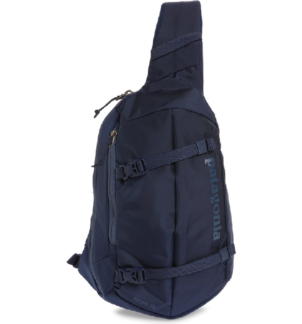 Patagonia Atom 8L Sling Backpack In Classic Navy W/ Navy