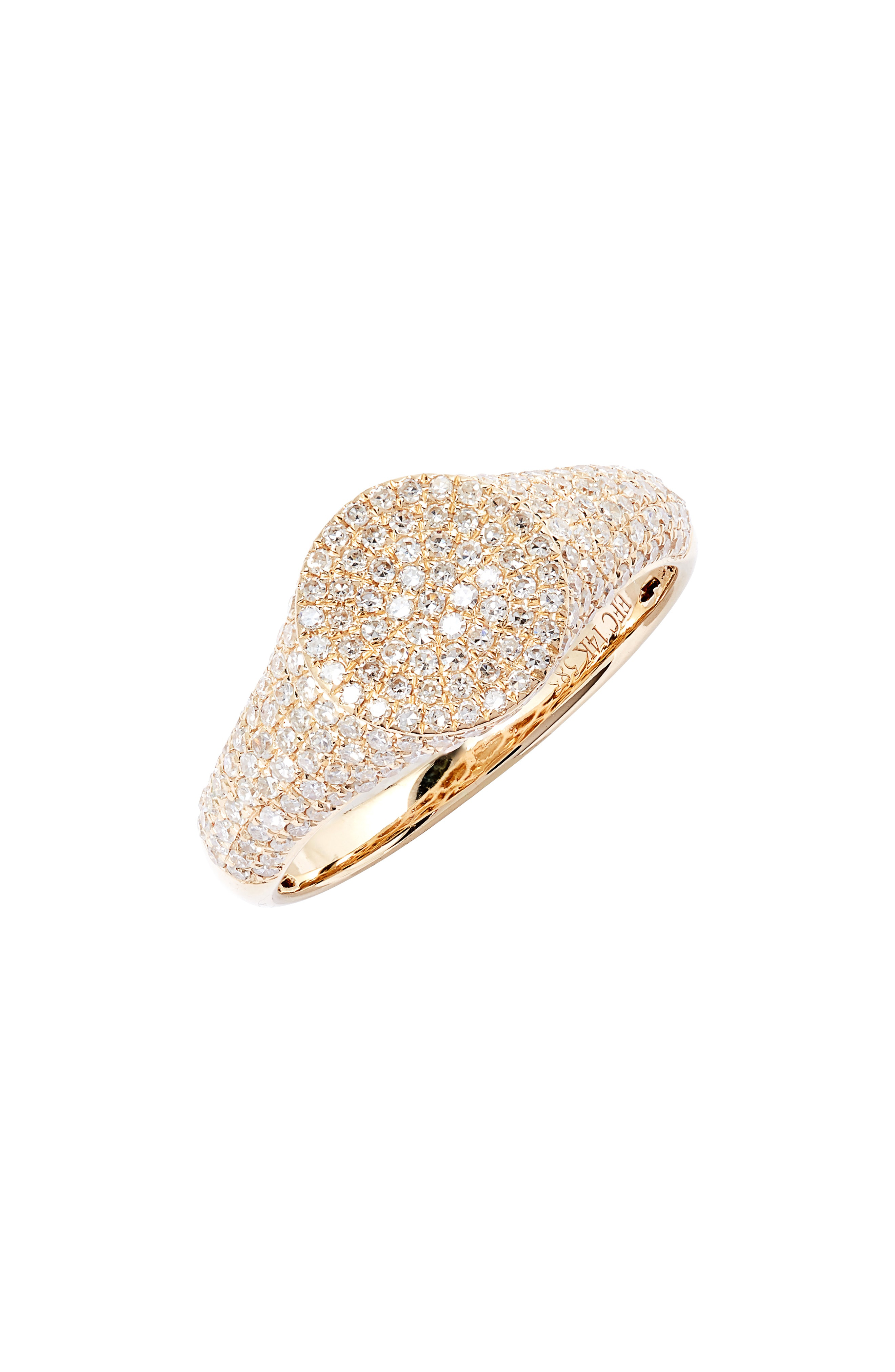 0d34c6ac07123 Diamond Signet Pinky Ring in Yellow Gold/ Diamond