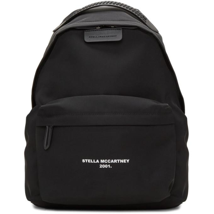stella mccartney black logo go falabella backpack modesens