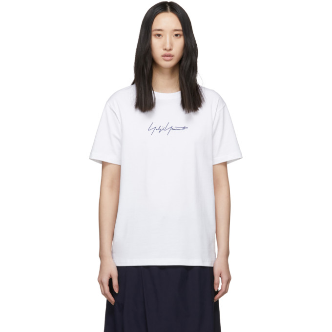 Yohji Yamamoto White New Era Edition Cotton T-Shirt In 1 White