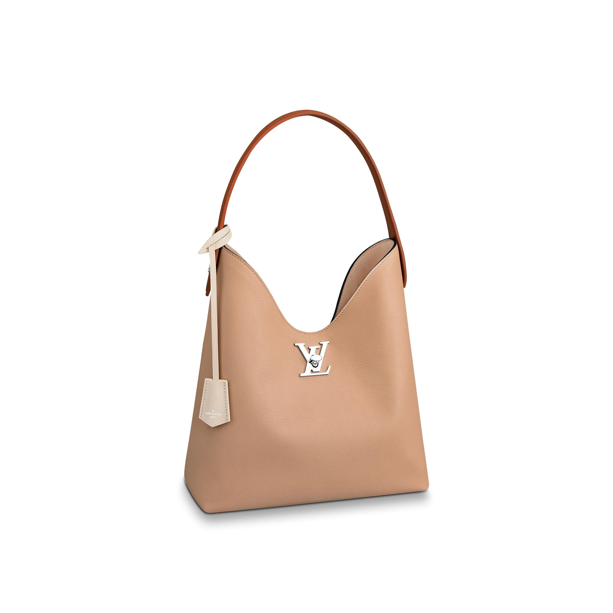 Louis Vuitton Lockme Hobo In Beige