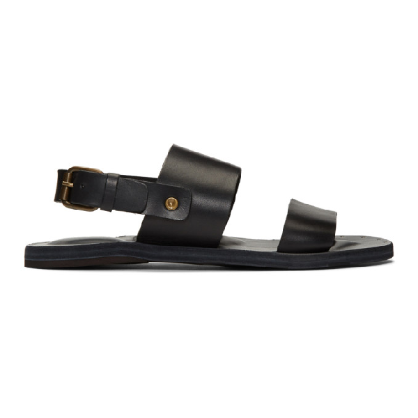 Officine Creative Black Tanhos Sandals In Tosc Nero