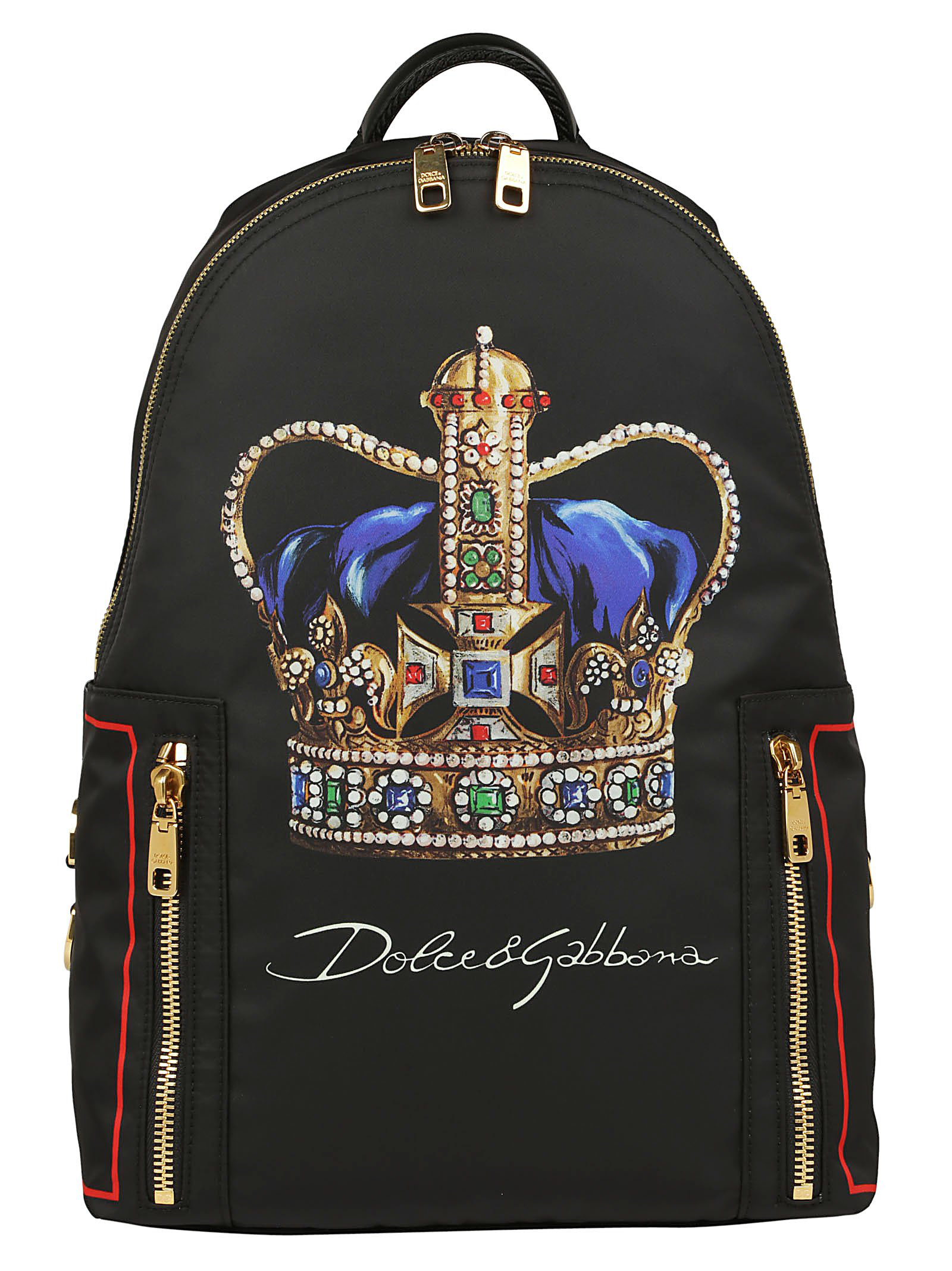 e8969d5dc078 Dolce & Gabbana Crown Print Backpack In Black | ModeSens