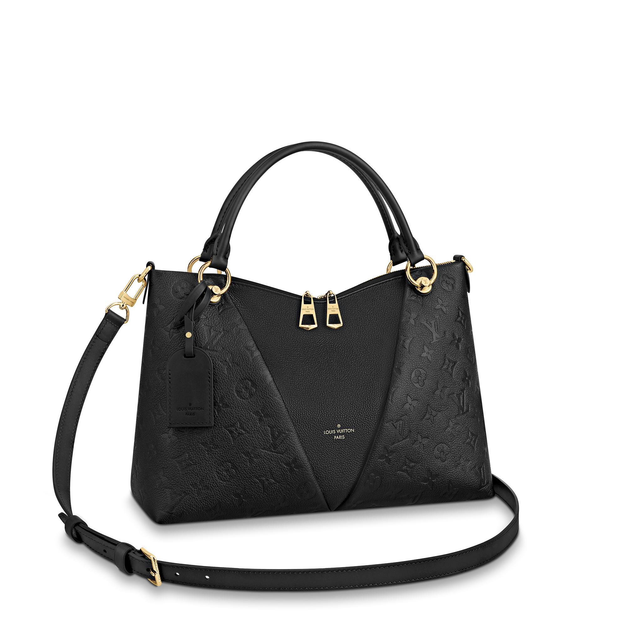 Louis Vuitton V Tote Mm In Noir