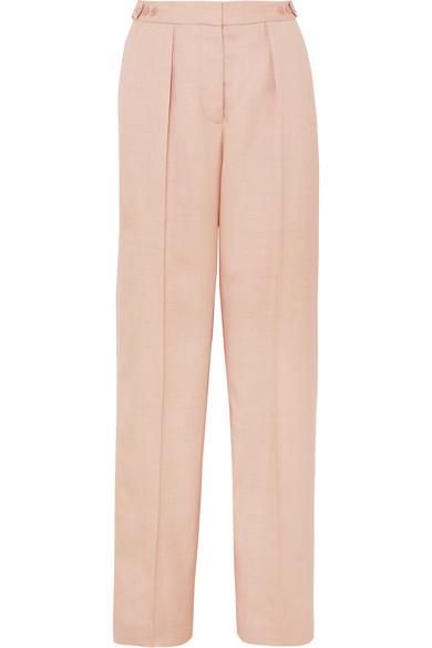 Stella Mccartney Woven Wide-Leg Pants In Blush