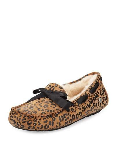 05ad3efcaac Dakota Leopard Print Bow Slipper (Women) in Chestnut Suede