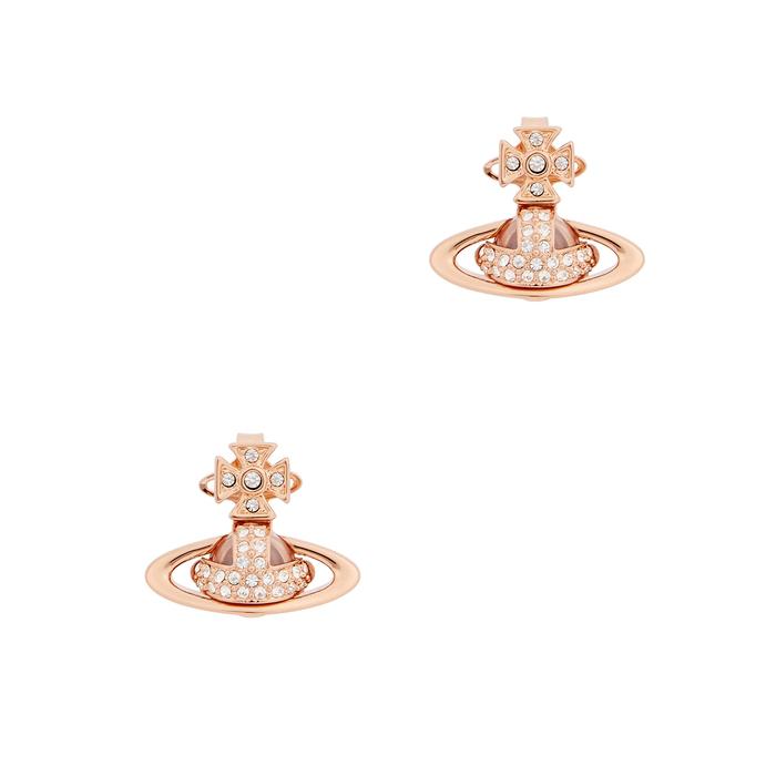 424f04662 Vivienne Westwood Sorada Bas Relief Rose Gold-Tone Earrings | ModeSens