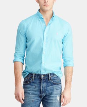 Garment Polo Slim Men's Cactus In Dyed Lauren Ralph Twill Fit Shirt MpUVSqzG