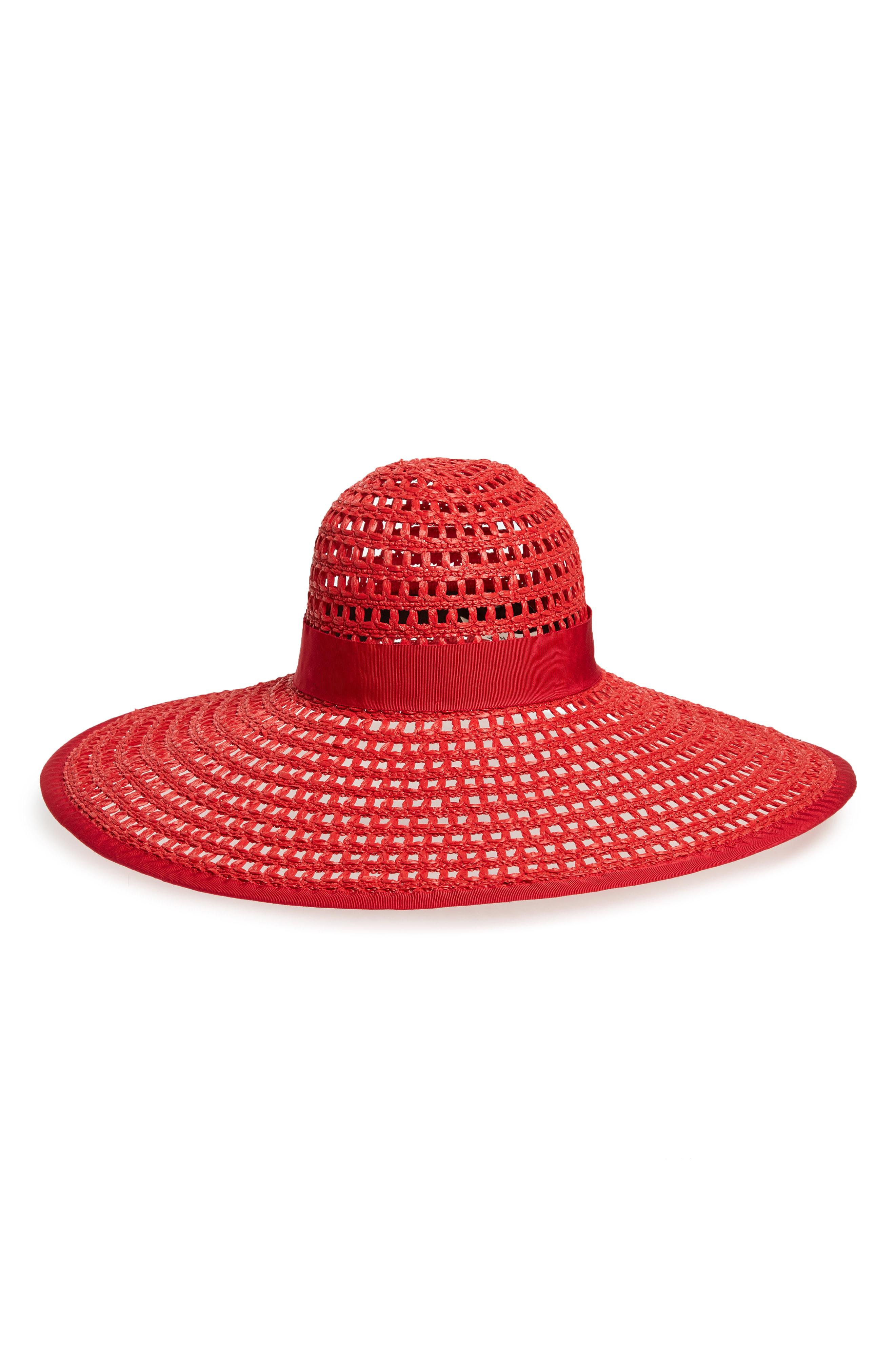 a88624a3 Eugenia Kim Sunny Woven Wide Brim Hat - Red | ModeSens