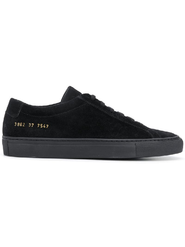 Common Projects Original Achilles Low-top Suede Sneakers In Black