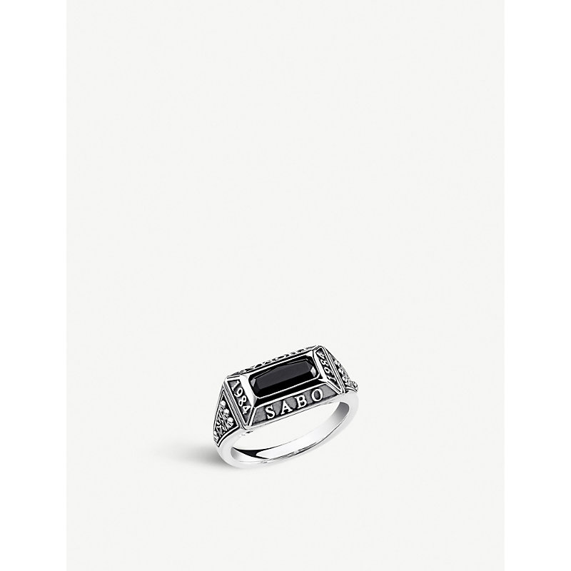 a1348e545a91 Thomas Sabo Arizona Sterling Silver And Onyx Ring In Black