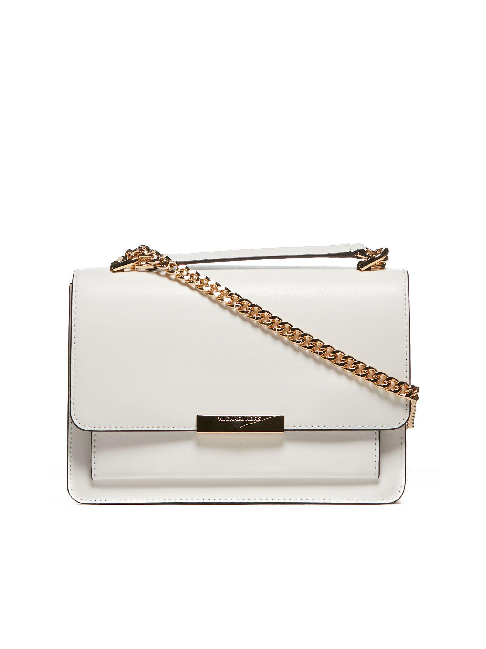 c72d708316a Michael Michael Kors Jade Chain Shoulder Bag In Bianco