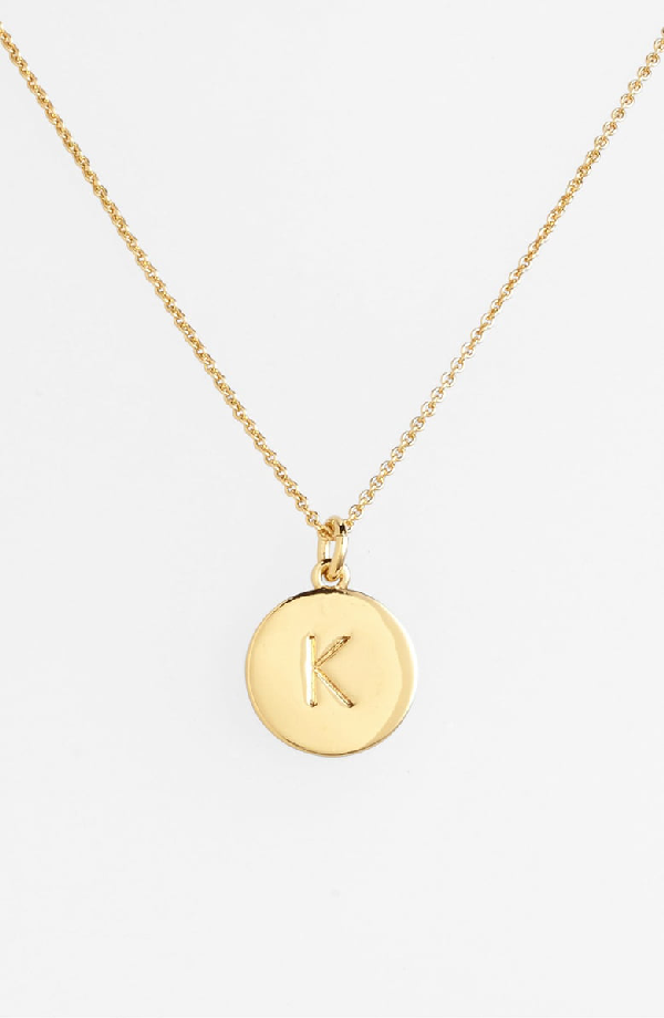 """Kate Spade 12k Gold-plated Initials Pendant Necklace, 17"""" + 3"""" Extender"""