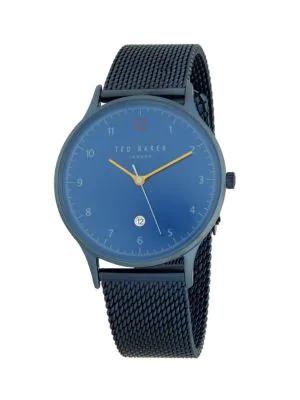 Ted Baker Stainless Steel Bracelet Watch In Blue