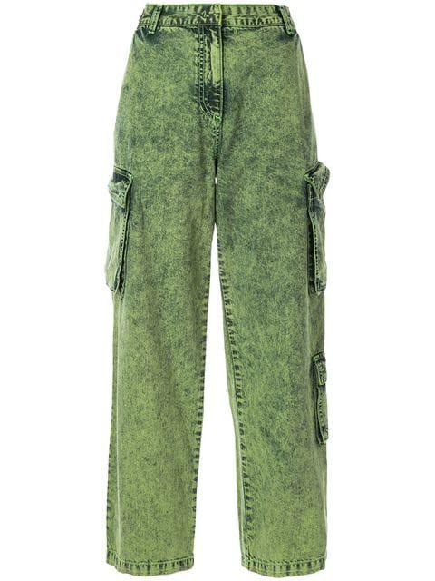 Juun.j Cargo Jeans In Green