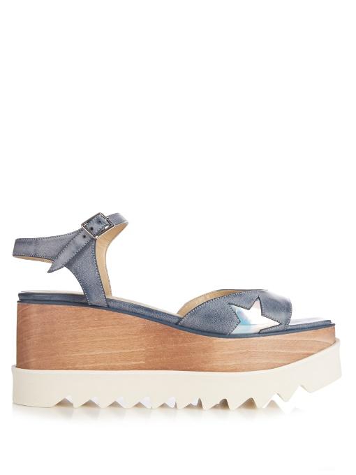 7c8af4fe1b1 Stella Mccartney Elyse Stars Platform Sandals In Blue