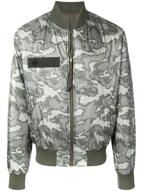 Mr & Mrs Italy Padded Bomber Jacket In C3718