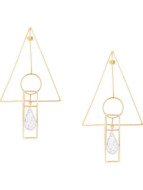Mercedes Salazar Geometric Earrings In Gold