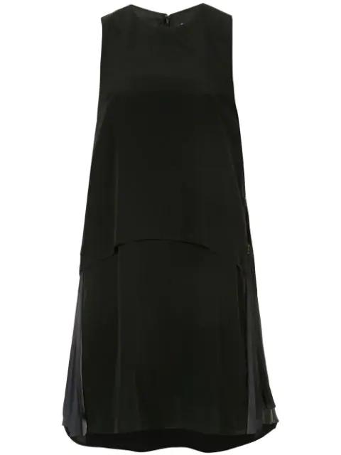 Muller Of Yoshiokubo Accordion Panel Dress In Black