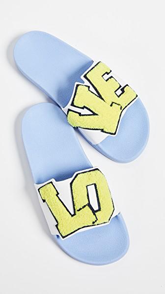 d9e0e30b463 Tory Sport Love Slide Sandals In Snow White Citrus Yellow Navy ...